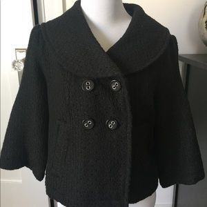 Jackets & Blazers - Short Coat with 3/4 length sleeves